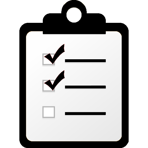 checklist on a pad