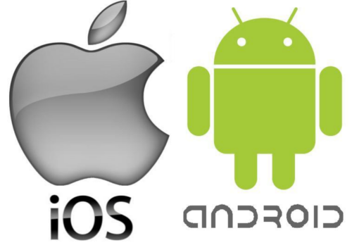 ios and android logos